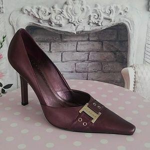 BCBGirls Women's Heels Purple Size 8-1/2 Leather